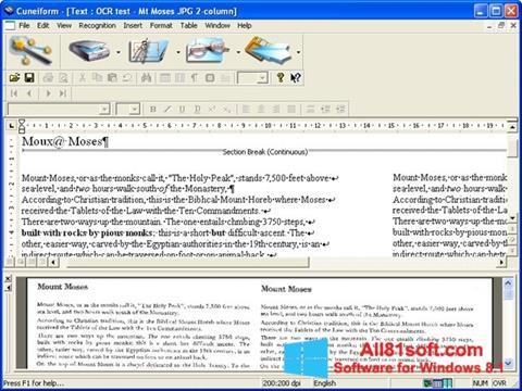 Screenshot CuneiForm für Windows 8.1