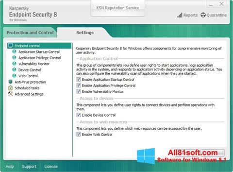 Screenshot Kaspersky Endpoint Security für Windows 8.1