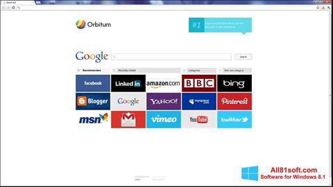 Screenshot Orbitum für Windows 8.1