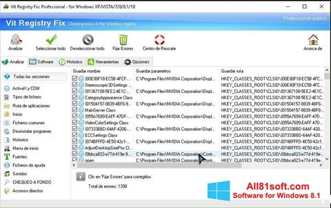 Screenshot Vit Registry Fix für Windows 8.1
