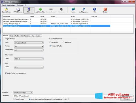 Screenshot XMedia Recode für Windows 8.1