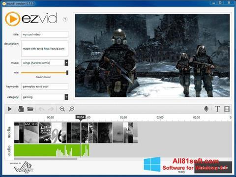 Screenshot Ezvid für Windows 8.1