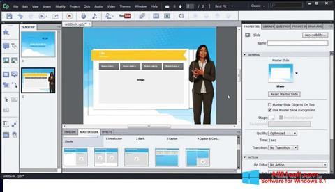 Screenshot Adobe Captivate für Windows 8.1