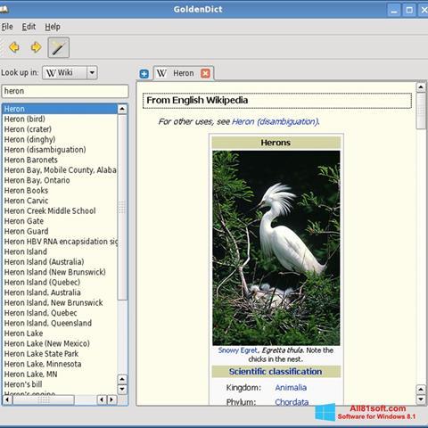 Screenshot GoldenDict für Windows 8.1