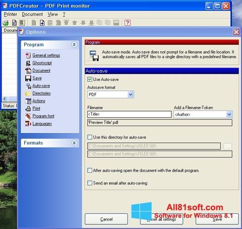 Screenshot PDFCreator für Windows 8.1