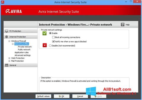 Screenshot Avira Internet Security für Windows 8.1