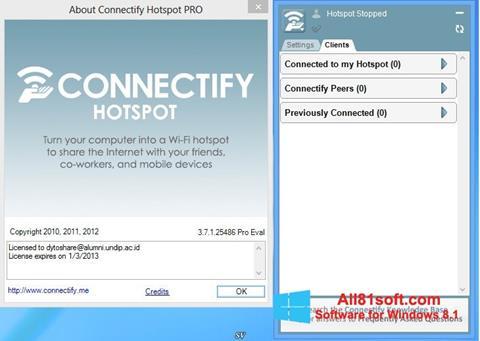 Screenshot Connectify Hotspot für Windows 8.1