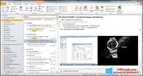 Screenshot Microsoft Outlook für Windows 8.1