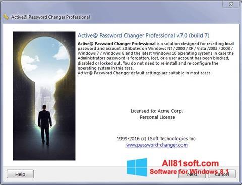 Screenshot Active Password Changer für Windows 8.1