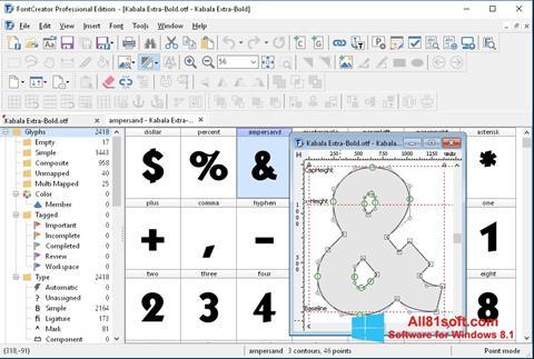 Screenshot Font Creator für Windows 8.1