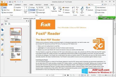 Screenshot Foxit Reader für Windows 8.1