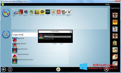 Screenshot BlueStacks für Windows 8.1