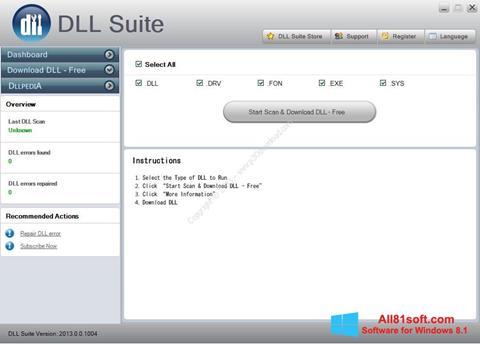 Screenshot DLL Suite für Windows 8.1