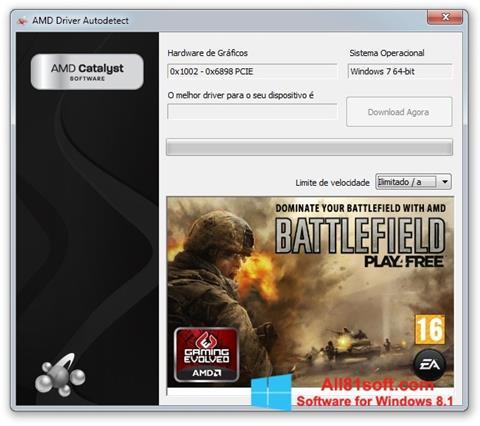 Screenshot AMD Driver Autodetect für Windows 8.1