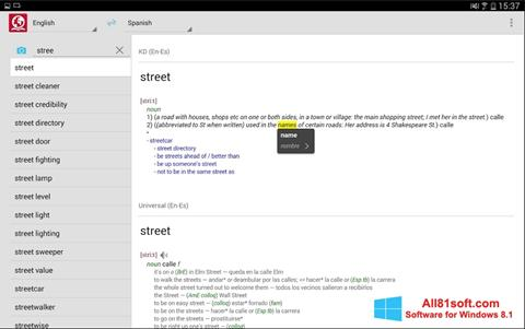 Screenshot ABBYY Lingvo für Windows 8.1