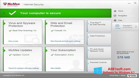 Screenshot McAfee für Windows 8.1