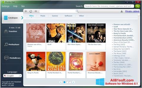 Screenshot MediaGet für Windows 8.1