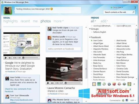 Screenshot Windows Live Messenger für Windows 8.1