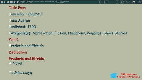 Screenshot ICE Book Reader für Windows 8.1