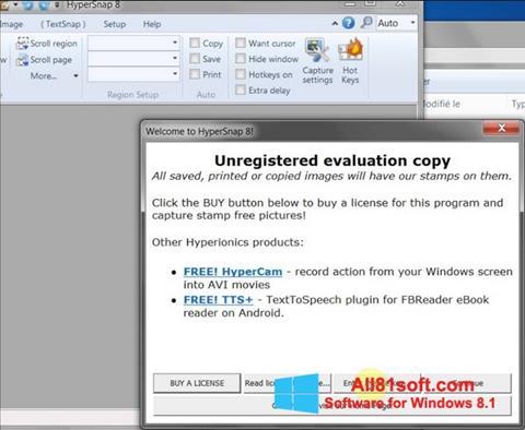 Screenshot HyperSnap für Windows 8.1