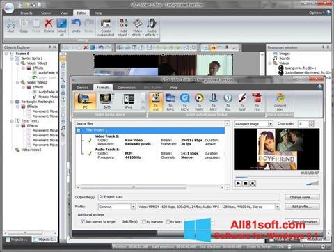 Screenshot Free Video Editor für Windows 8.1