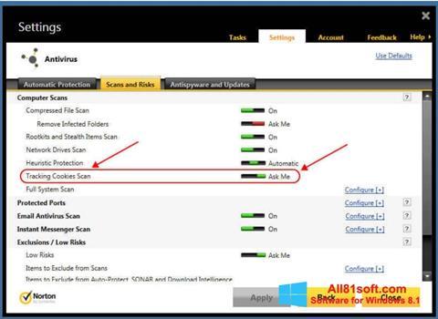 Screenshot Norton für Windows 8.1