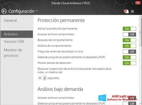 Screenshot Panda Cloud für Windows 8.1