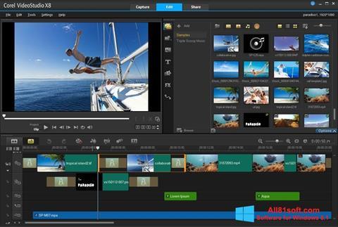 Screenshot Corel VideoStudio für Windows 8.1