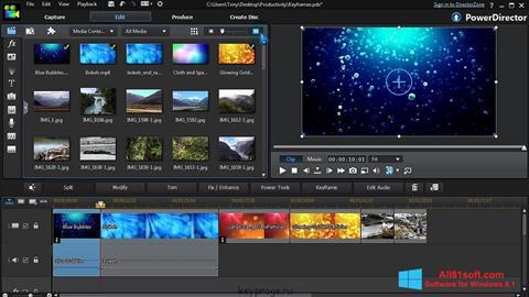 Screenshot CyberLink PowerDirector für Windows 8.1