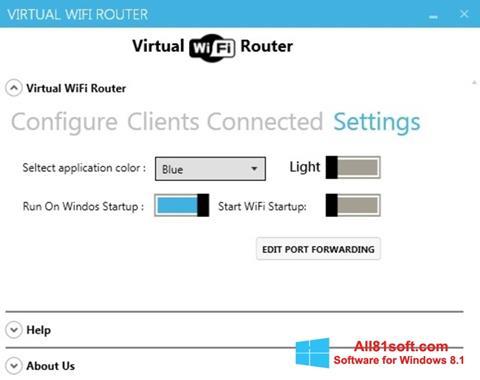 Screenshot Virtual WiFi Router für Windows 8.1