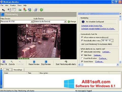 Screenshot WebCam Monitor für Windows 8.1