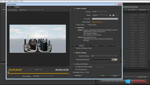 Screenshot Adobe Media Encoder für Windows 8.1