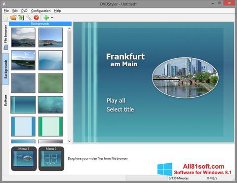 Screenshot DVDStyler für Windows 8.1