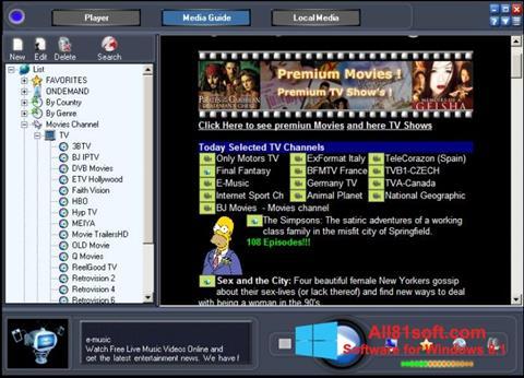 Screenshot Online TV Live für Windows 8.1