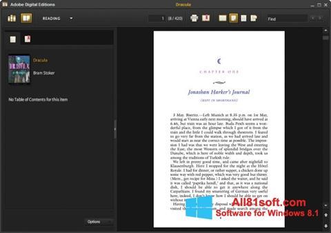 Screenshot Adobe Digital Editions für Windows 8.1