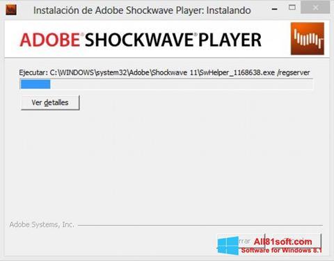 Screenshot Adobe Shockwave Player für Windows 8.1