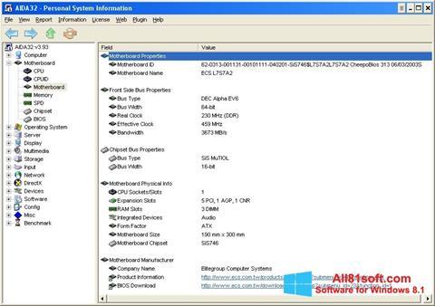 Screenshot AIDA32 für Windows 8.1