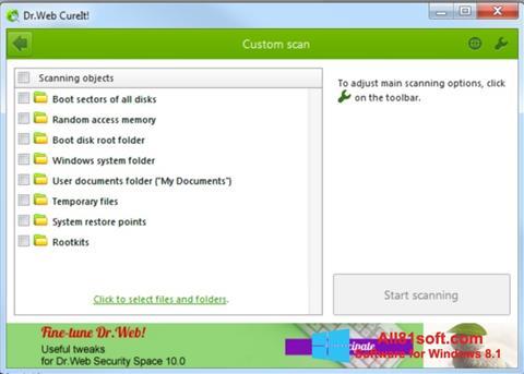 Screenshot Dr.Web CureIt für Windows 8.1