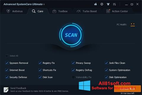 Screenshot Advanced SystemCare Ultimate für Windows 8.1