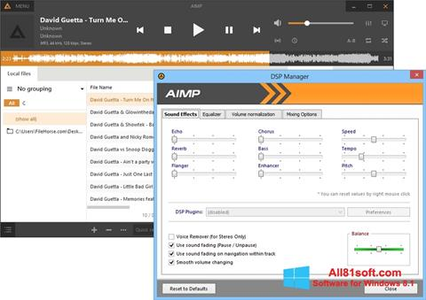 Screenshot AIMP für Windows 8.1