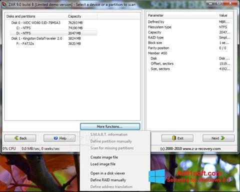 Screenshot Zero Assumption Recovery für Windows 8.1