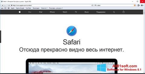 Screenshot Safari für Windows 8.1