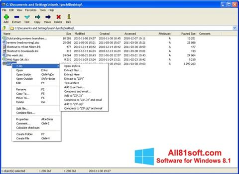 Screenshot 7-Zip für Windows 8.1