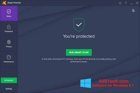 Screenshot Avast Premier für Windows 8.1