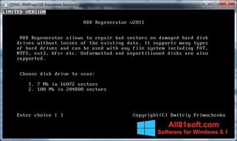 Screenshot HDD Regenerator für Windows 8.1