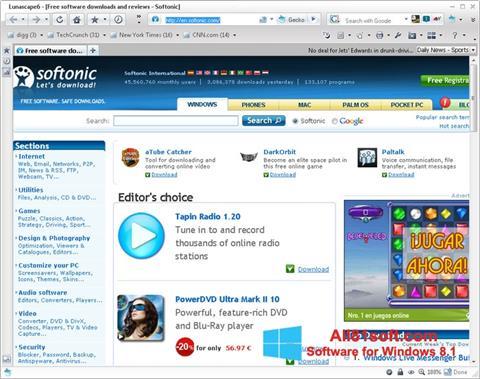 Screenshot Lunascape für Windows 8.1