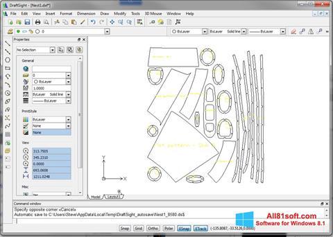 Screenshot DraftSight für Windows 8.1
