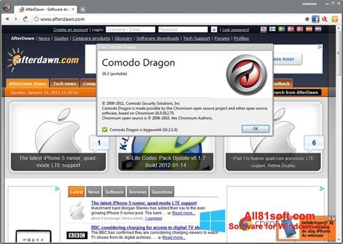 Screenshot Comodo Dragon für Windows 8.1