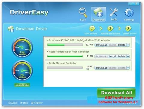Screenshot Driver Easy für Windows 8.1