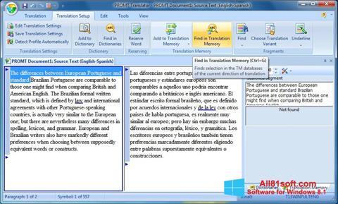 Screenshot PROMT für Windows 8.1